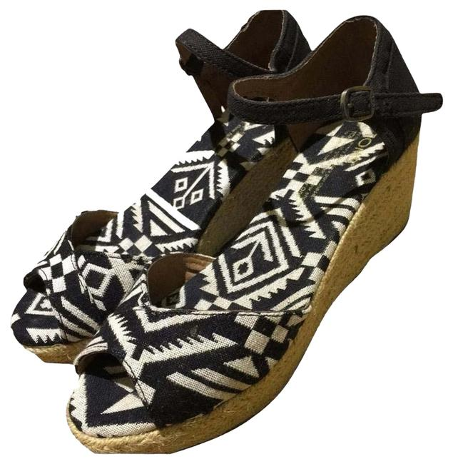 Item - Black and White Wedges Size US 7.5