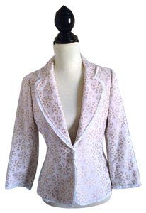 Alex Marie Lace Trim Floral Career Ivory Blazer