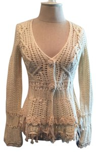 Anthropologie Ribbon/lace Cardigan