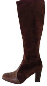 Amalfi Designer Collection Brown Leather/Suede Boots