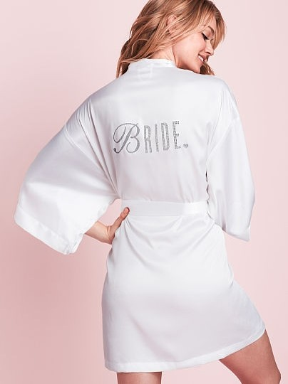 new style & luxury multiple colors look for White Bridal Robe