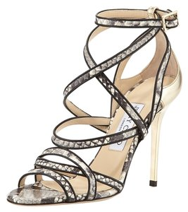 Jimmy Choo Black Champagne Sandals