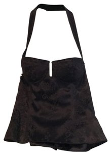 Dior Top Black satin with lace over lay