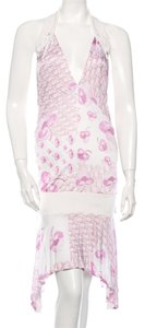 Dior short dress White, Pink Diorissiomo Halter Monogram Floral on Tradesy