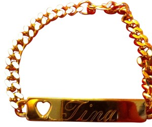 Things Remembered Gold Plated Name Plate Toggle Bracelet-