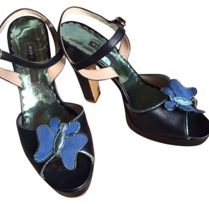 Marc Jacobs Monogram Blue Platforms