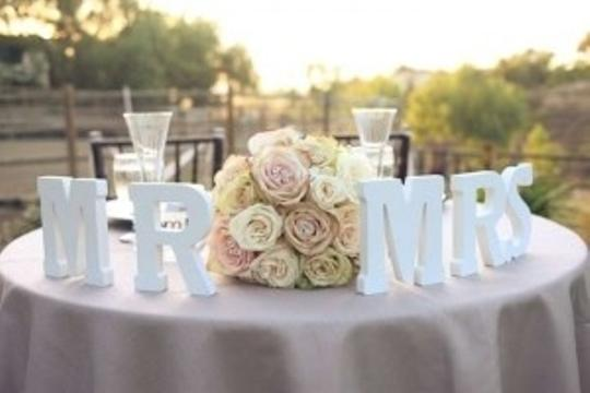 Sable Brown Mr and Mrs Tabletop Reception Decoration