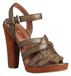7 For All Mankind Suede Leather Brown Sandals