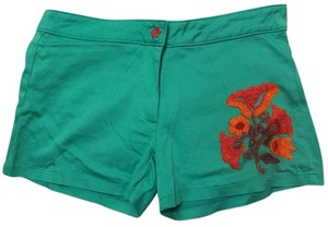 Judith March Embroidered Floral Trendy Designer Unique Shorts