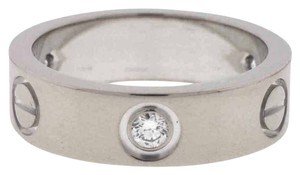 Cartier Cartier Love Ring White Gold Three Diamonds Wedding Band