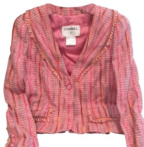 Chanel Pink with multi color Blazer