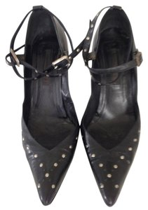 Narciso Rodriguez Black studded Leather Pumps