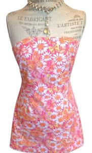 Lilly Pulitzer short dress Pink ,orange,yellow and white Preppy on Tradesy