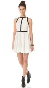 BB Dakota short dress White & Black Contrast Textured on Tradesy