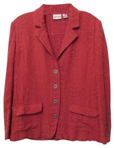 Chico's Silk Lightweight Red Jacket