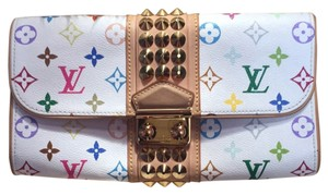 Louis Vuitton White And Multi-color Clutch
