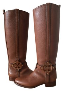 Tory Burch Leather Camel Boots