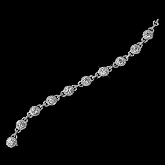 Elegance By Carbonneau Gorgeous Cz Chain Wedding Bracelet