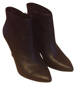 Joie Leather Wedge Black Boots