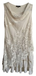 Isabel Marant short dress Cream Lace Tiered Embroidered on Tradesy