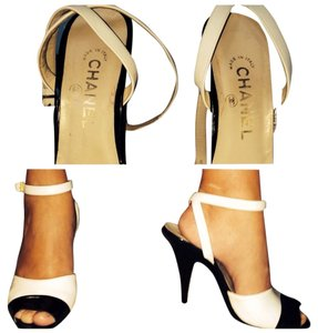 Chanel Black and White Pumps