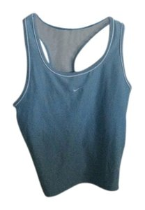 Nike Nike Built In Bra Sleeveless Racer Back Solid Athletic Tank Top