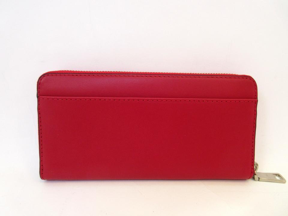 22c128235d Coach Classic Red Silver X Peanuts Snoopy Accordion Zip Leather F53773  Limited Edition Wallet 27% off retail
