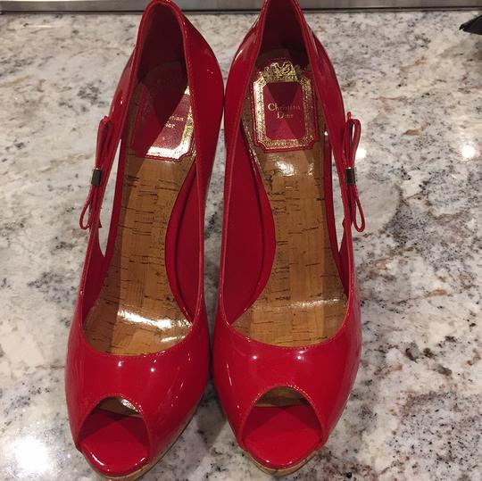 Dior Red Platforms Image 1
