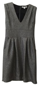 ADAM Shift Metallic V-neck Dress