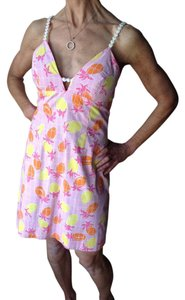 Lilly Pulitzer short dress Pink,orange yellow, and white Preppy Cocktail Resort on Tradesy