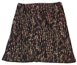 Kenneth Cole Pleated Skirt Brown, Multi