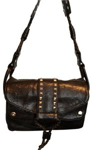 Donald J. Pliner Rocker Embellished Leather Shoulder Bag
