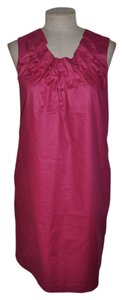 Coldwater Creek short dress Cranberry Resort Sheath Polished Cotton on Tradesy