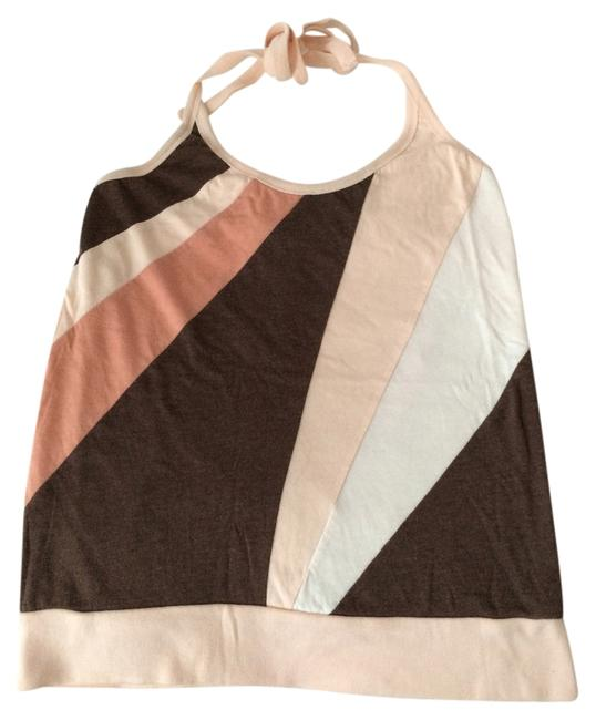 American Eagle Outfitters Patchwork Cream multi Halter Top