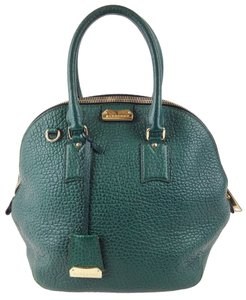 Burberry Leather Satchel in Forest Green