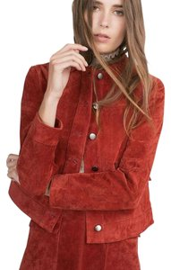Zara Suede Leather red Jacket