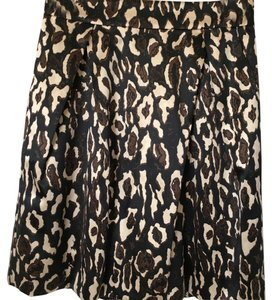 Banana Republic Skirt Black Leopard Print