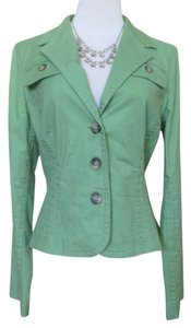 Tommy Hilfiger Lightweight Stretch Cotton Fitted Green Blazer