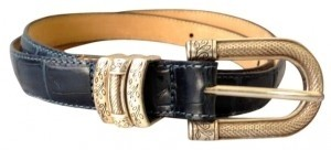 Brighton Brighton Leather Belt Navy with silver buckle size large