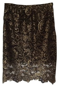 Sans Souci Skirt Black and Gold