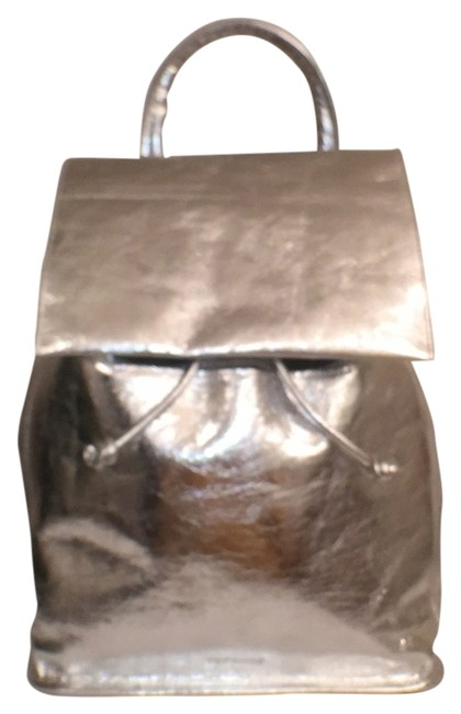 Item - New Silver Leather Backpack