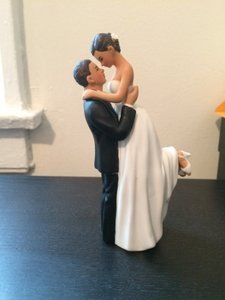 WeddingStar Inc. Medium Skin Tone True Romance Bridal Couple Cake Topper