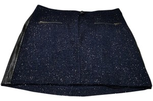 Victoria's Secret Victoria Mini Sparkle Mini Skirt Navy blue, black and silver