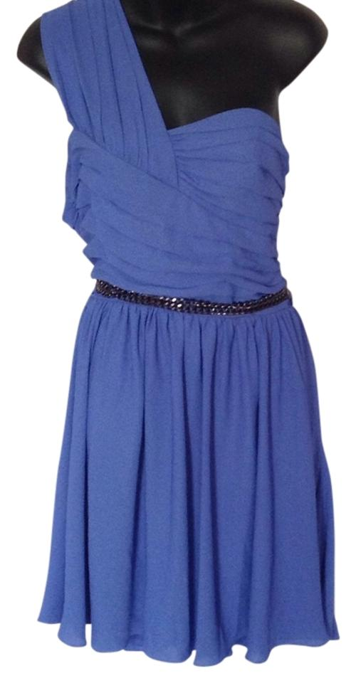 Express Blue Above Knee Cocktail Dress Size 12 (L) - Tradesy