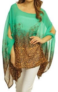 Boutique 9 Poncho Animal Print Sheer Tunic