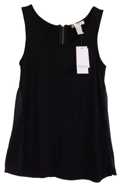 Preload https://item3.tradesy.com/images/design-history-black-sleeveless-pleated-blouse-size-4-s-1307307-0-0.jpg?width=400&height=650