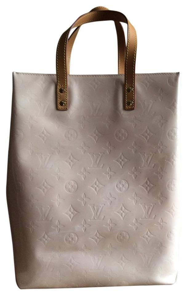 Louis Vuitton Vernis Patent Leather Classic Tote In Marshmallow Pale Pink