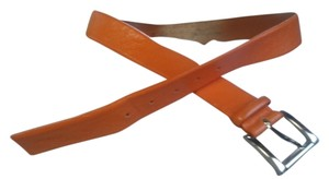 Les Copains Orange handcrafted Italian leather belt