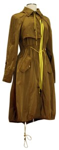 Tracy Reese Trench Hood Asymmetric Trench Coat