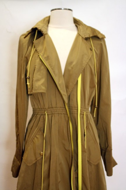 Tracy Reese Hood Asymmetric Trench Coat Image 3